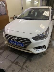 Hyundai Solaris шумоизоляция дверей 1