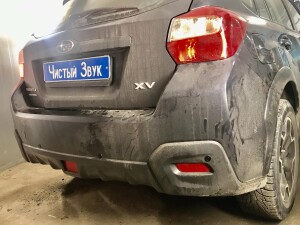 Subaru XV установка парктроников 4